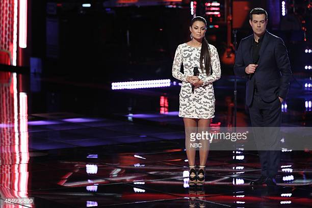 THE VOICE 'Playoffs' Episode 616 Pictured Melissa Jimenez Carson Daly