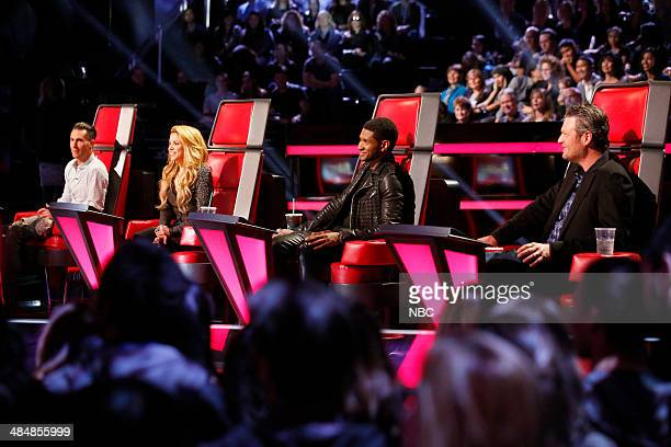 THE VOICE Playoffs Pictured Adam Levine Shakira Usher Blake Shelton