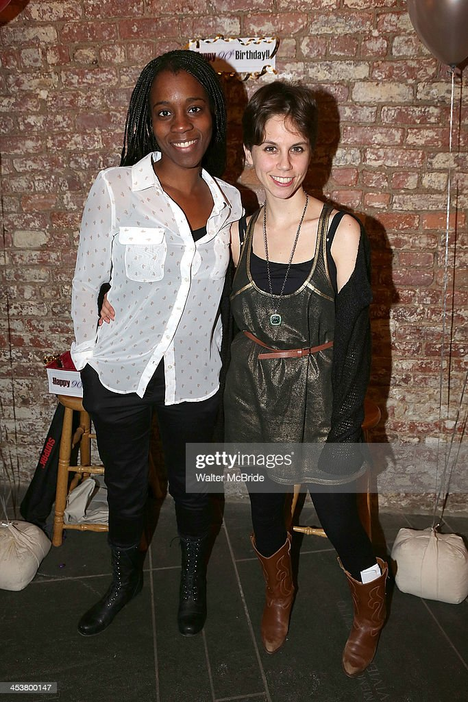 Playright Awoye Timpo (L) and Playright Jen Silverman attend Cherry Lane Theatre's 'Mentor Project 2014' 16th anniversary celebration at Cherry Lane Theatre on December 4, 2013 in New York City.
