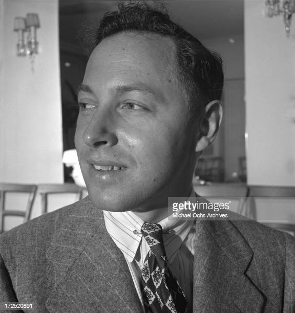 Playright Tennessee Williams poses for a portrait circa 1945 in New York City, New York.