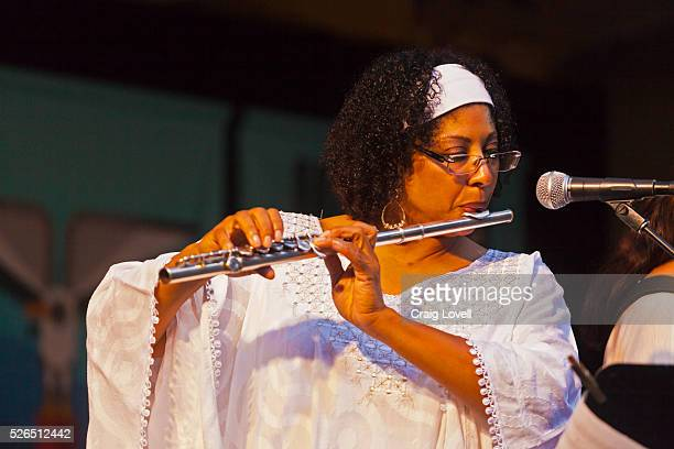 STAFFORD plays flute with SAMBADA on the Garden Stage of the MONTEREY JAZZ FESTIVAL