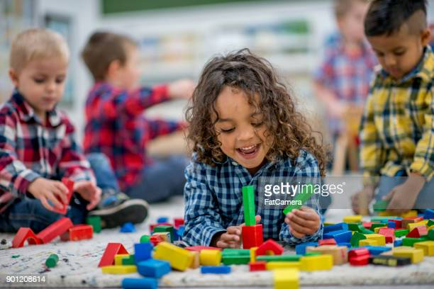 playtime for kids - preschool building stock pictures, royalty-free photos & images