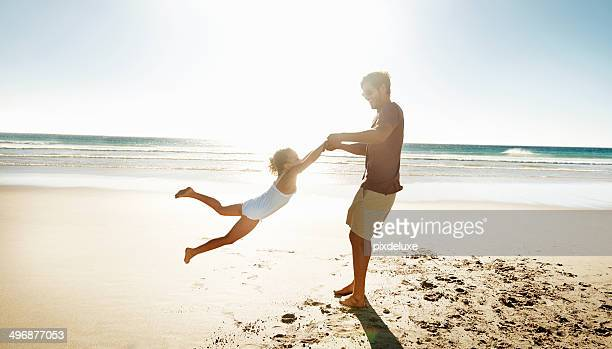 playtime with daddy - swinging stock pictures, royalty-free photos & images