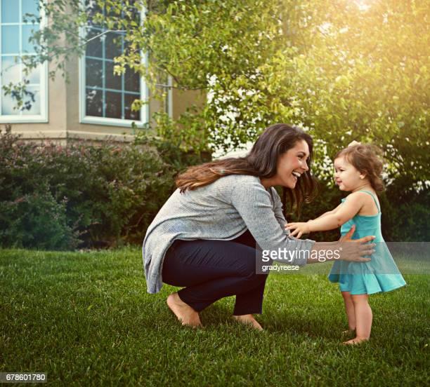 Playtime met haar schattige prinsesje