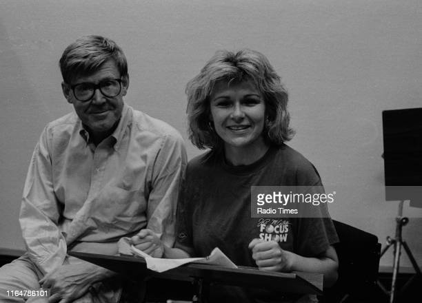 Playwright Alan Bennett and actress Julie Walters in conversation, July 20th 1989.