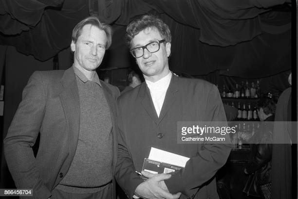 Playwright and actor Sam Shepard and German film director Wim Wenders pose for a portrait in January 1994 in New York City