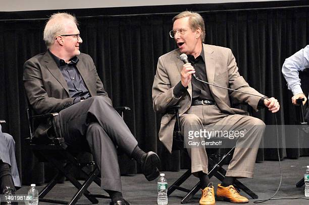 Playwright and actor Tracy Letts and film director William Friedkin attend a screening of 'Killer Joe' at The Film Society of Lincoln Center on July...