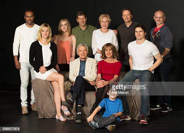 Playwright and actors of the play 'The City of Conversation' are photographed for Christine Lahti Jason Ritter Georgia King Tony Giardina for Los...