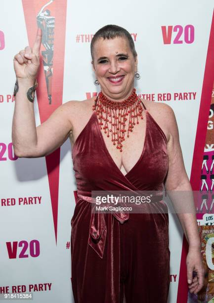 Playwright and V-Day Founder Eve Ensler attends The Red Party - 20th Anniversary Celebration Of V-Day and The Vagina Monologues at Manhattan Theater...