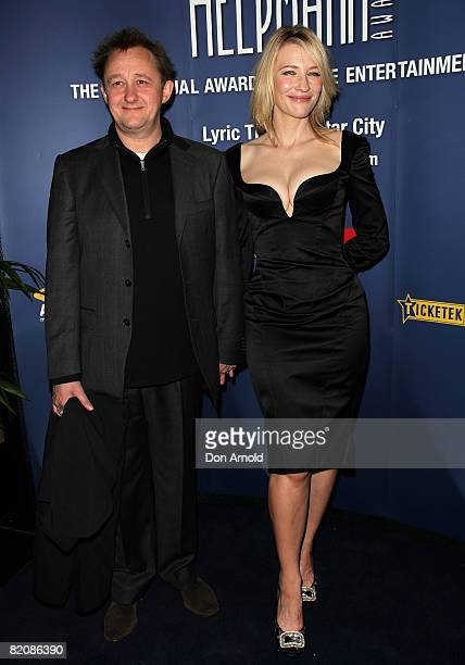 Playwright Andrew Upton and actress Cate Blanchett arrive for the 2008 Helpmann Awards at Star City Casino July 28, 2008 in Sydney, Australia.