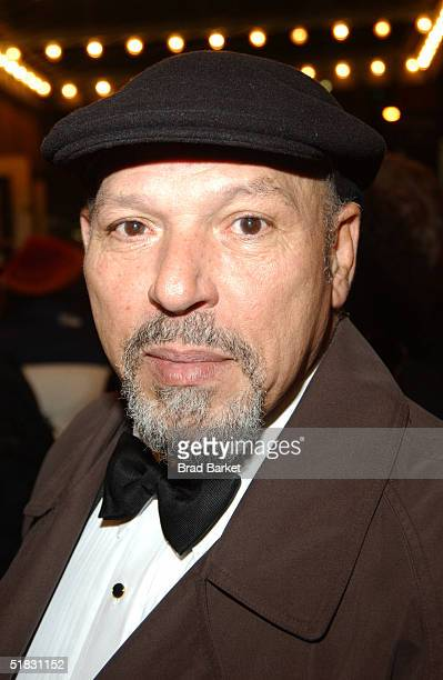 """Playwright August Wilson arrives to the opening of """"The Gem of the Ocean"""" at the Walter Kerr Theatre on December 6, 2004 in New York."""