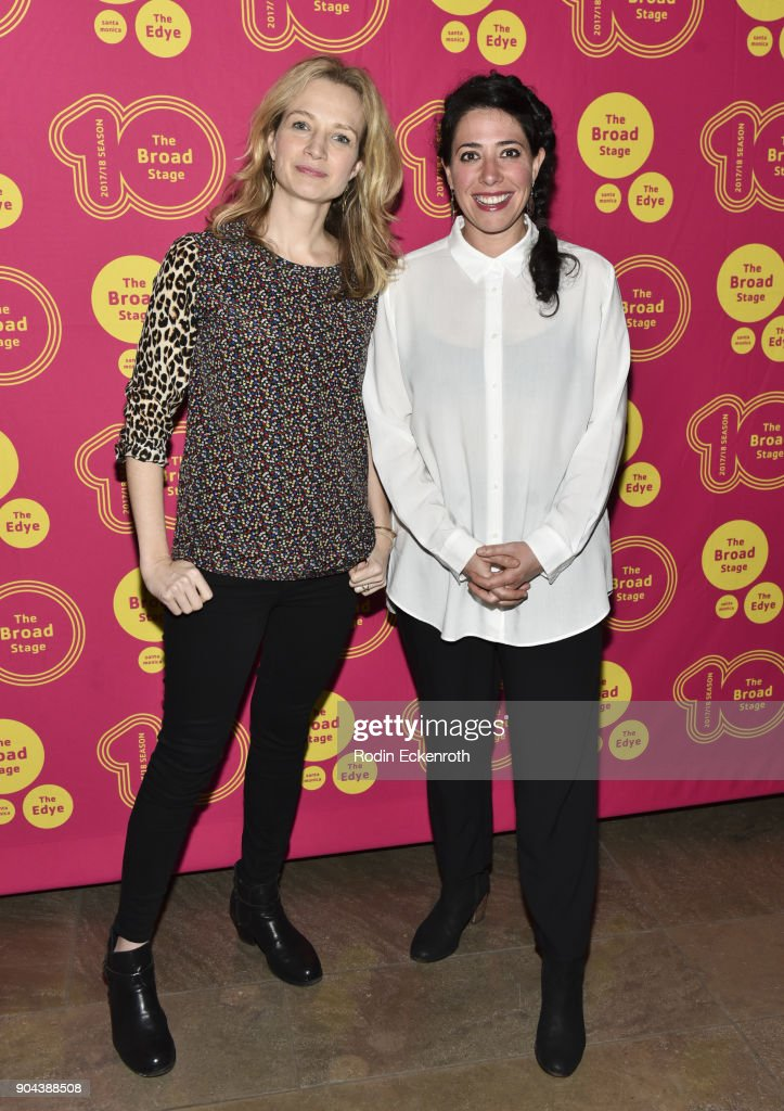 Playwright Bess Wohl and director Rachel Chavkin attend 'Small Mouth Sounds' opening night at The Eli and Edythe Broad Stage on January 12, 2018 in Santa Monica, California.