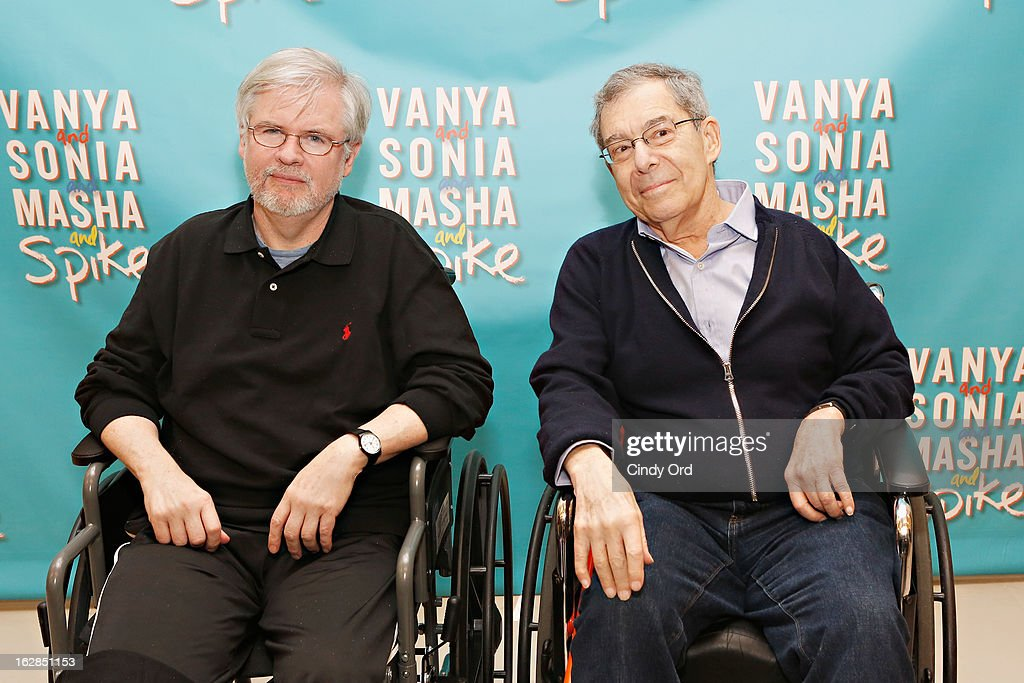 Playwright Christopher Durang and Director Nicholas Martin attend the 'Vanya And Sonia And Masha And Spike' Broadway Press Preview at The New 42nd Street Studios on February 28, 2013 in New York City.