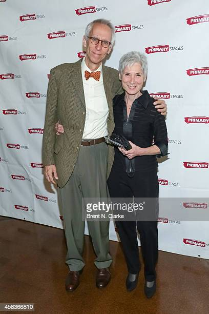 Playwright David Ives and his wife Martha Ives attend the 2014 Primary Stages Gala at 583 Park Avenue on November 3 2014 in New York City