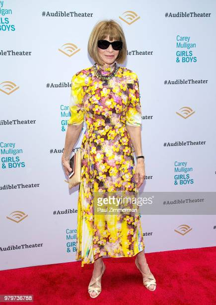 Playwright Dennis Kelly actress Carey Mulligan Founder and CEO of Audible Don Katz and artistic producer of Audible Theater Kate Navin attend 'Girls...