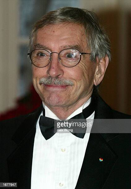 Playwright Edward Albee, a former Kennedy Center Honoree, arrives for a reception of the 2002 Kennedy Center Honors December 8, 2002 at the White...
