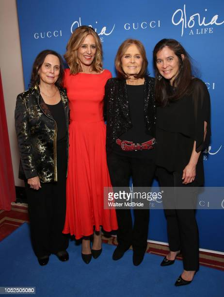 Playwright Emily Mann Christine Lahti Gloria Steinem and director Diane Paulus attend the Opening Night Performance After Party for Gloria A Life on...