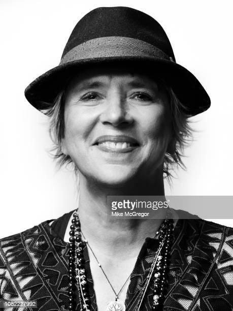 Playwright Eve Ensler poses for a portrait at Hudson Valley Votes on October 20 2018 in Kingston New York