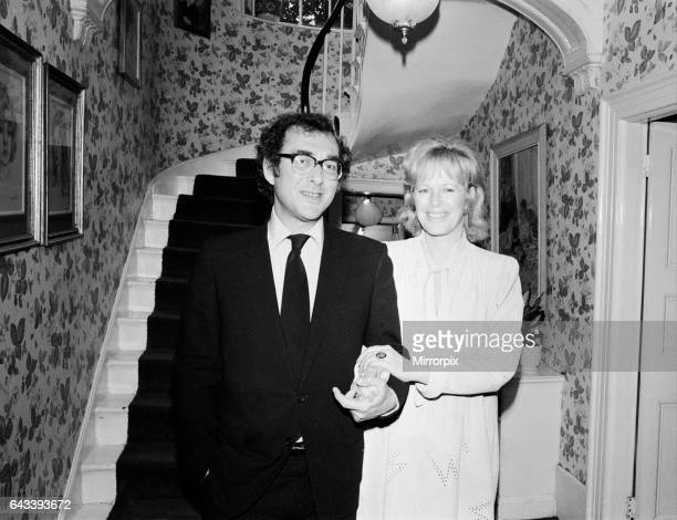 Playwright Harold Pinter and author Lady Antonia Fraser pictured together in the hallway of their house, 9th October 1980, It was reported that the...
