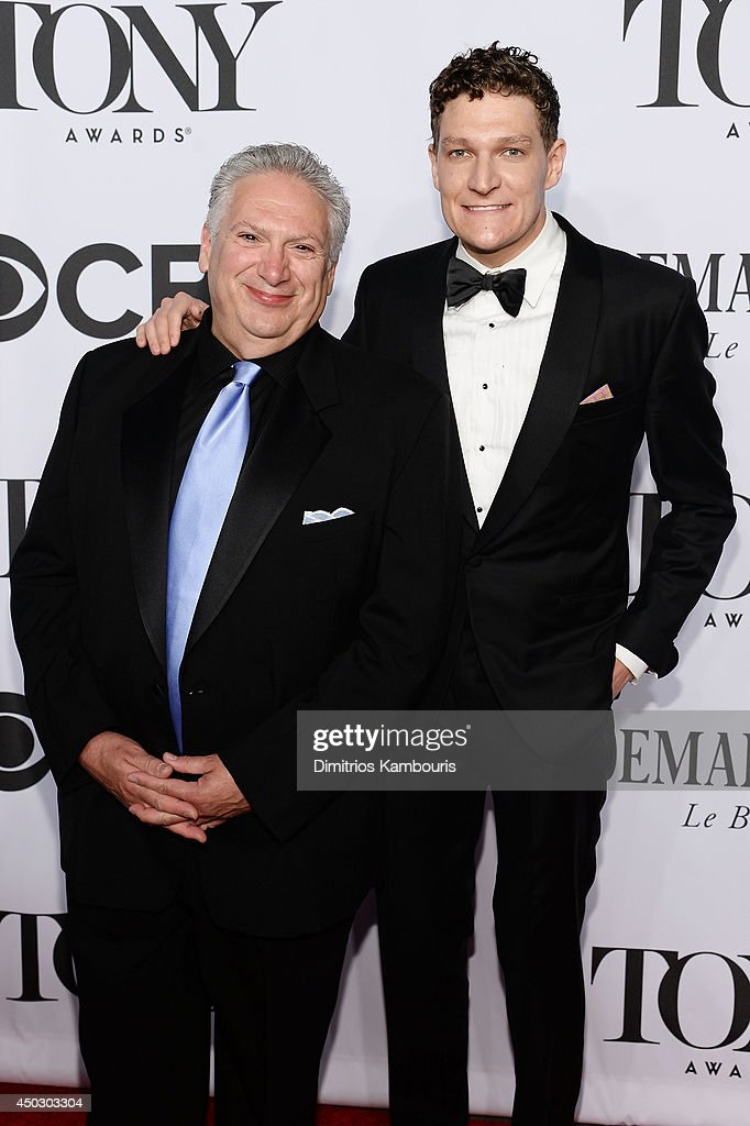 Playwright Harvey Fierstein (L) and Gabriel Ebert attend the 68th Annual Tony Awards at Radio City Music Hall on June 8, 2014 in New York City.