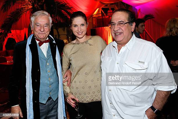 Playwright Hippolyte Wouters producer JeanLuc Azoulay and his wife Isabelle Bouysse attend the 1st wedding anniversary party of actress Cyrielle...