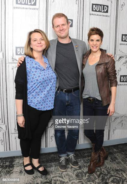 Playwright Irene Carl Sankoff David Hein and actress Jenn Colella attend Build to discuss their show 'Come From Away' at Build Studio on May 11 2017...