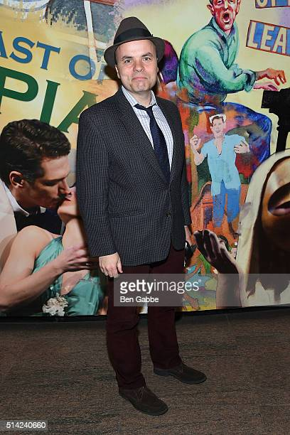 "Playwright J. T. Rogers attends ""The Royale"" Opening Night at the Mitzi E. Newhouse Theater Lobby on March 7, 2016 in New York City."