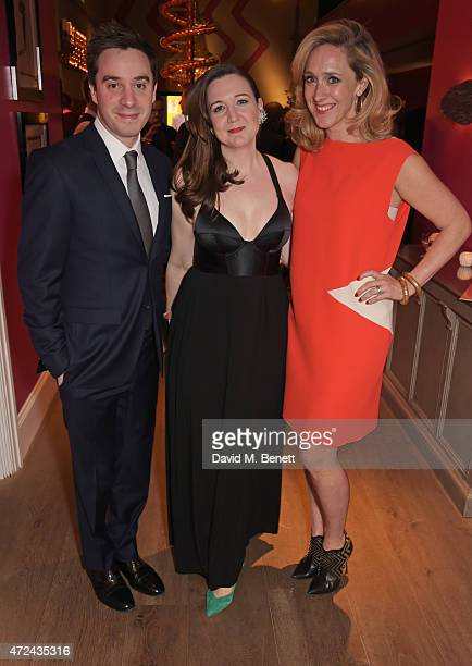 """Playwright James Graham, Josie Rourke, Artistic Director of the Donmar Warehouse and director of """"The Vote"""", and Kate Pakenham, Executive Producer of..."""