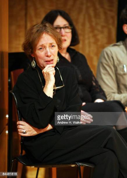Playwright Jane Wood speaks at a stage reading of Stella in the Bois de Boulogne at the Center for Jewish History on January 26 2009 in New York City