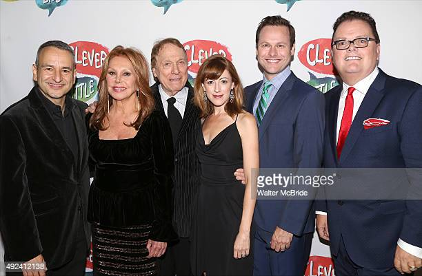 Playwright Joe DiPietro actors Marlo Thomas Greg Mullavey Kate Wetherhead George Merrick and director David Saint attend the OffBroadway opening...