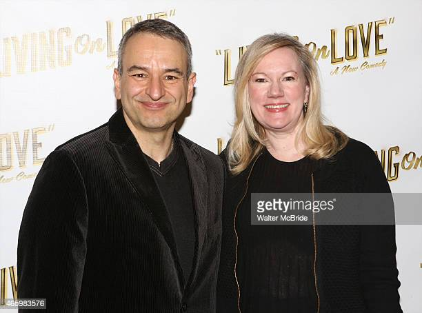 Playwright Joe DiPietro and director Kathleen Marshall attends the 'Living on Love' photo call at the Empire Hotel on March 12 2015 in New York City