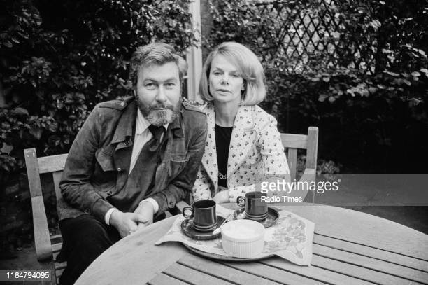 Playwright John Osborne and his wife, actress Jill Bennett, interviewed in the garden of their Chelsea home for the BBC Radio 4 play 'Marriage a la...