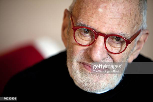 Playwright Larry Kramer of the production 'The Normal Heart' in his apartment in Manhattan New York on April 22 2012