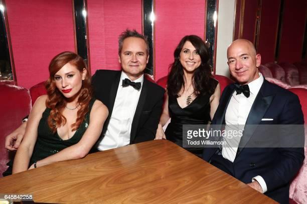 Playwright Lila Feinberg, Head of Amazon Studios Roy Price, CEO of Amazon Jeff Bezos and writer MacKenzie Bezos attend the Amazon Studios Oscar...