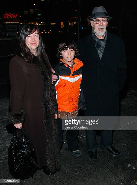 Playwright Lisa Loomer with Marchello Loomer and Joe attend the opening night of Distracted at the Roundabout Theatre Company's Laura Pels Theatre on...