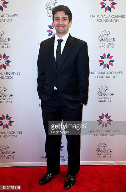 Playwright lyricist composer and actor LinManuel Miranda arrives at the National Archives Foundation Honors 'Hamilton's' LinManuel Miranda Thomas...