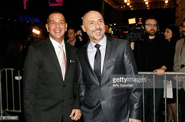 Playwright Matthew Lombardo and Director Rob Ruggiero attend the Broadway opening of Looped at Lyceum Theatre on March 14 2010 in New York City