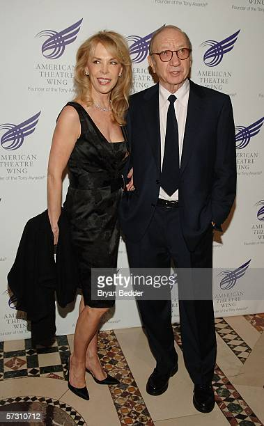 Playwright Neil Simon and his wife Elaine Joyce arrives at the American Theatre Wing Annual Spring Gala at Cipriani 42nd Street on April 10 2006 in...