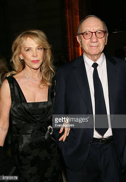 Playwright Neil Simon and his wife Elaine Joyce attend the American Theatre Wing Annual Spring Gala at Cipriani 42nd Street on April 10 2006 in New...
