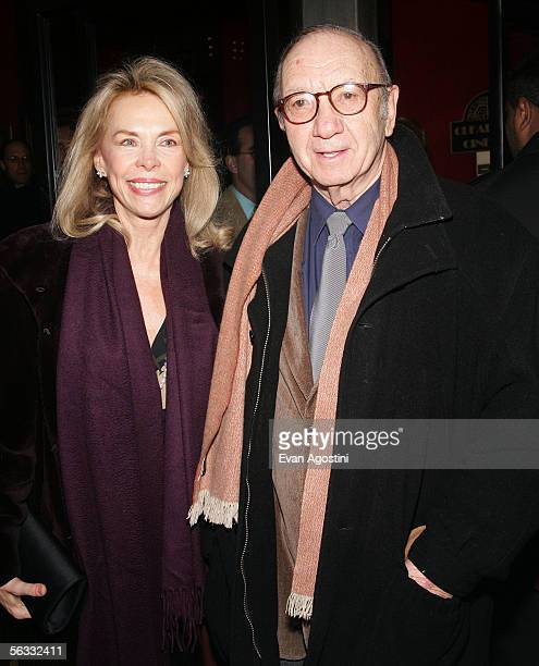 Playwright Neil Simon and his wife Elaine Joyce attend the World Premiere of The Producers at the Ziegfeld Theatre December 4 2005 in New York City