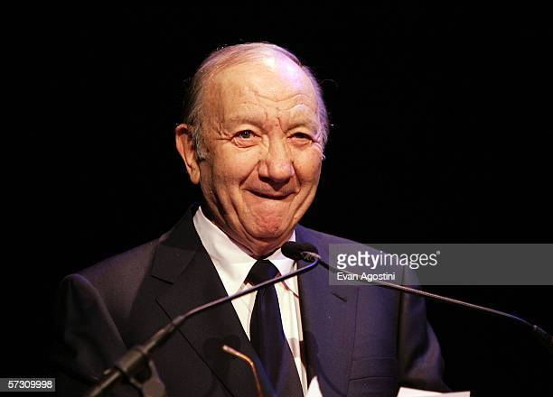 Playwright Neil Simon speaks during the American Theatre Wing Annual Spring Gala at Cipriani 42nd Street on April 10 2006 in New York City