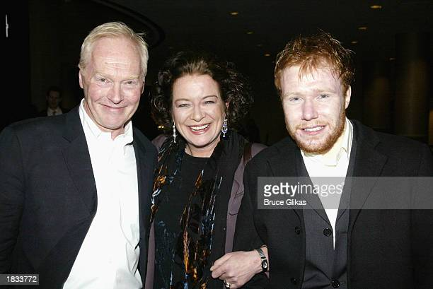 Playwright Nicholas Wright actress Clare Higgins and actor Jochum ten Haaf attend the Opening Night Party for The Lincoln Center Theater Production...