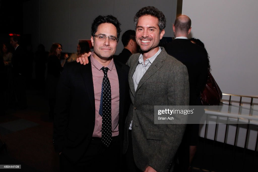 Playwright Rajiv Joseph and actor Omar Metwally attend The 2013 Steinberg Playwright 'Mimi' Awards presented by The Harold and Mimi Steinberg Charitable Trust at Lincoln Center Theater on November 18, 2013 in New York City.