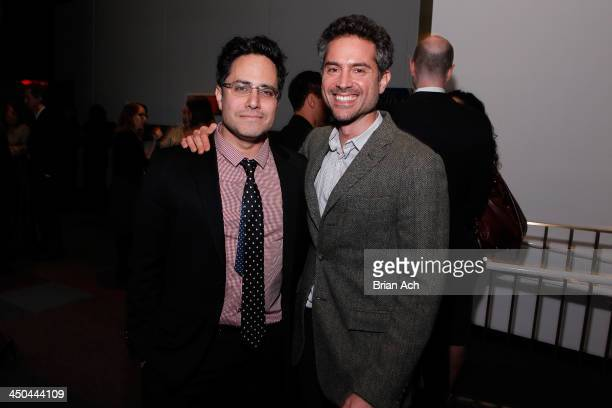 Playwright Rajiv Joseph and actor Omar Metwally attend The 2013 Steinberg Playwright 'Mimi' Awards presented by The Harold and Mimi Steinberg...