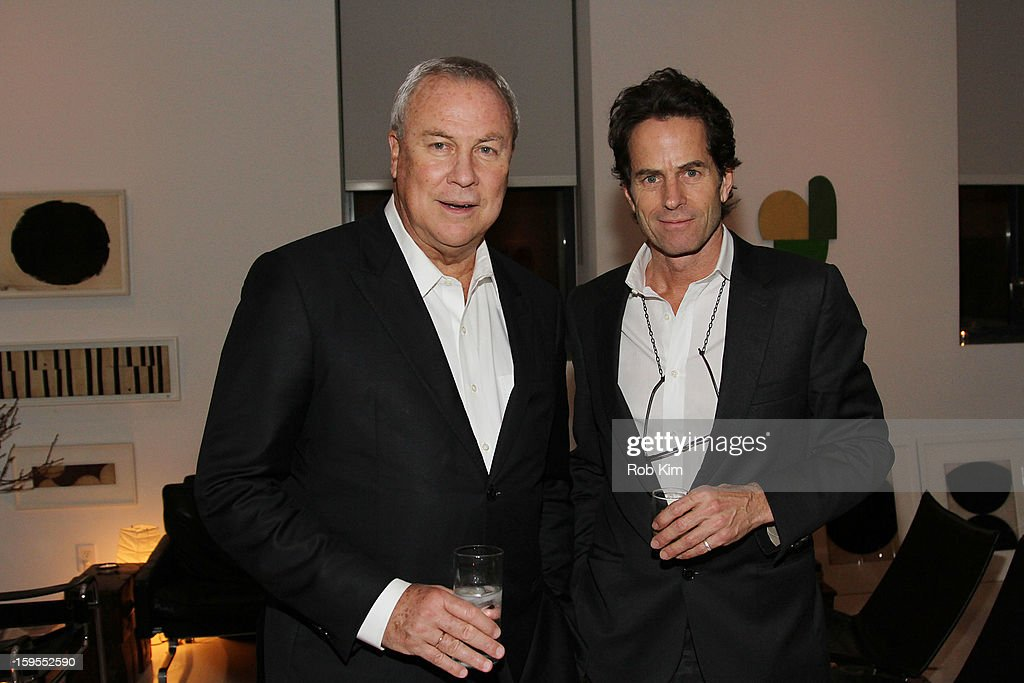 Playwright Robert Wilson (L) and artist Robert Kelly attend An Intimate Evening With The Contemporary Patrons Of The Watermill Center at 210 East 5 Street on January 15, 2013 in New York City.