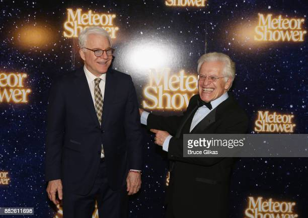 Playwright Steve Martin and Director Jerry Zaks pose at The Opening Night of Steve Martin's new play 'Meteor Shower' on Broadway at The Booth Theatre...