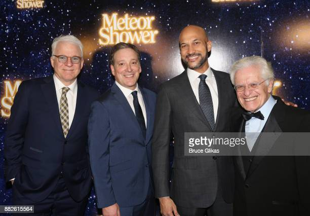 Playwright Steve Martin Jeremy Shamos KeeganMichael Key and Director Jerry Zaks pose at the opening night of Steve Martin's new play 'Meteor Shower'...