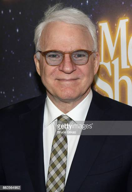 Playwright Steve Martin poses at The Opening Night of Steve Martin's new play Meteor Shower on Broadway at The Booth Theatre on November 29 2017 in...