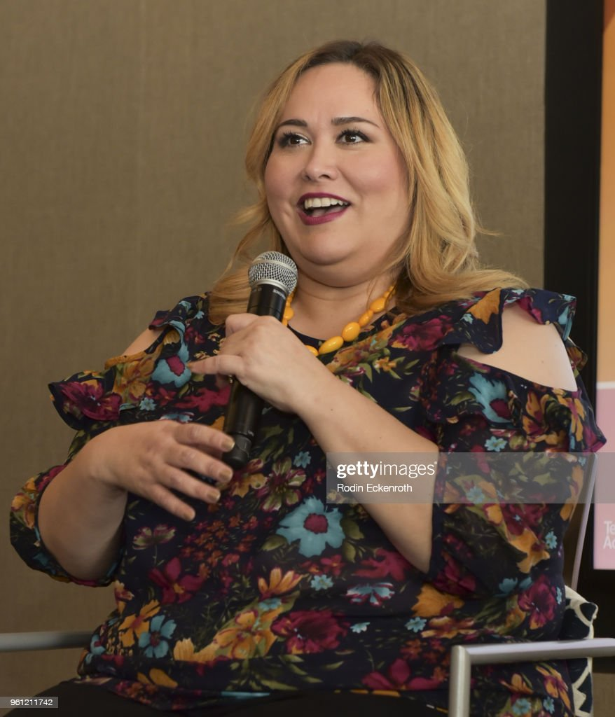 Playwright Tanya Saracho speaks onstage at the Women in Entertainment and The Television Academy Foundation's Inaugural Women in Television Summit at Saban Media Center on May 21, 2018 in North Hollywood, California.