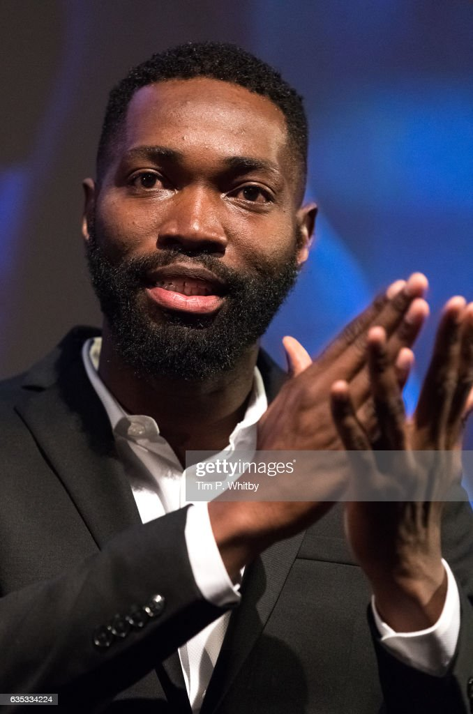 Playwright Tarell Alvin McCraney taking part in a Q&A after a preview screening of Moonlight at BFI Southbank on February 14, 2017 in London, United Kingdom.